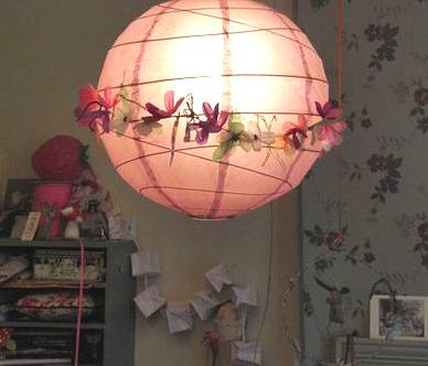 Lampe rose enfant