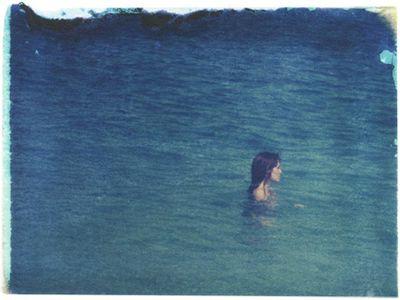 Alone in blue