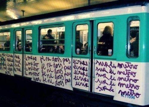 Ne pas ecrire sur le metro